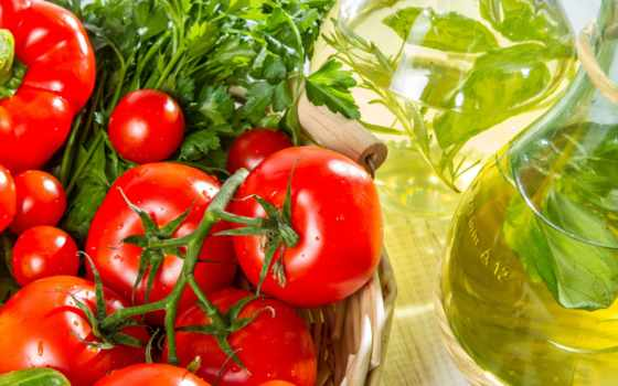 еда, производить, нефть, помидоры, корзина, еды, темы, зелёный, cvety, collector,