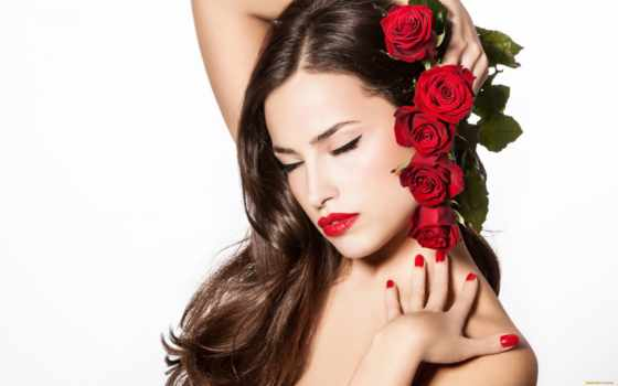 губы, красные, cvety, макияж, девушка, вконтакте, волосы, розы, руки, мыши, именем,