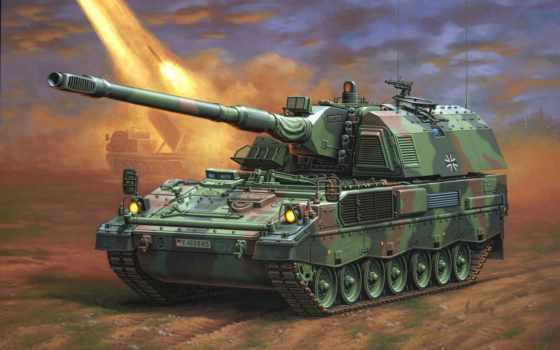 panzerhaubitze, artillery, pzh, self, propelled, гаубица, самоходная, art, meng,