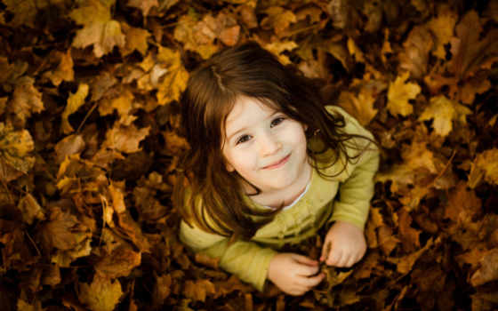 дети, осень, настроения