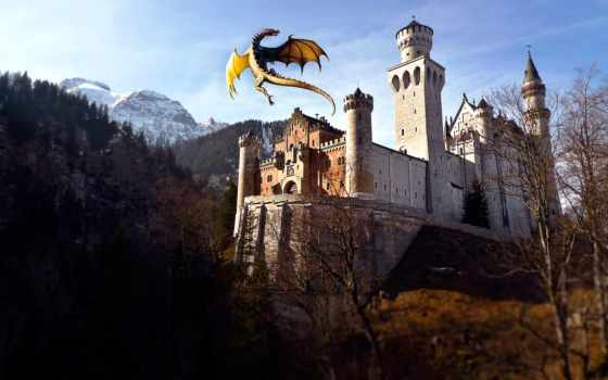 fantasy, castle, июл