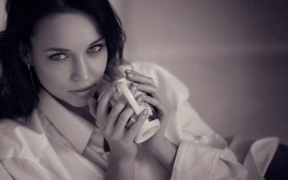 хороший, angelina, утро, petrova, tapety, tf, portrait, białe, czarno,