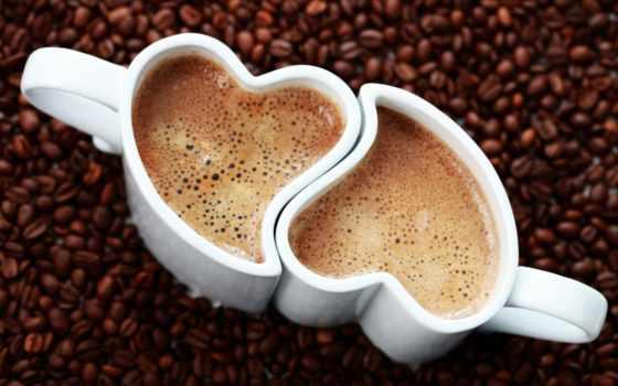 coffee, cup, seed, утро, пенка, сердце, напиток