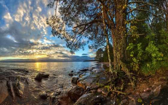 озеро, берег, лашков, рассвет, камни, фёдор, ладожское, онежское,