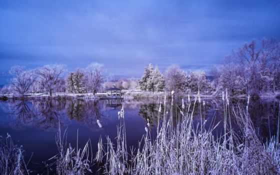 отражение, беседка, free, widescreen, trees, озеро,