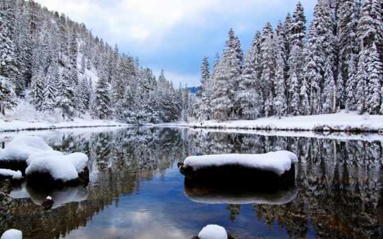 снег, winter, бесплатные, картиники, река, гора, природа, когда, дерево,