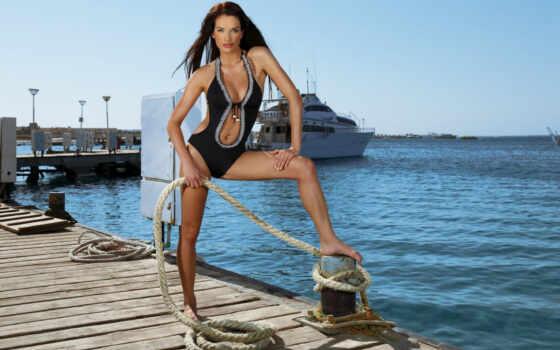 девушка, яхта, magdalenon, come, обстановка, море, купальник, веревка