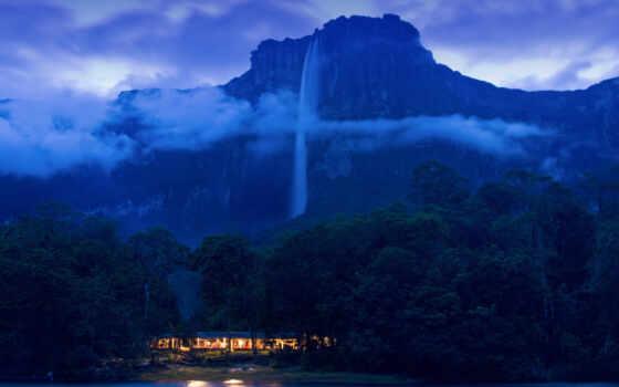 venezuela, nacional, водопад, canaima, parque, high, park, iceland, красивый, ubicado, angel