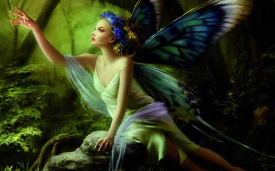 фея, бабочка