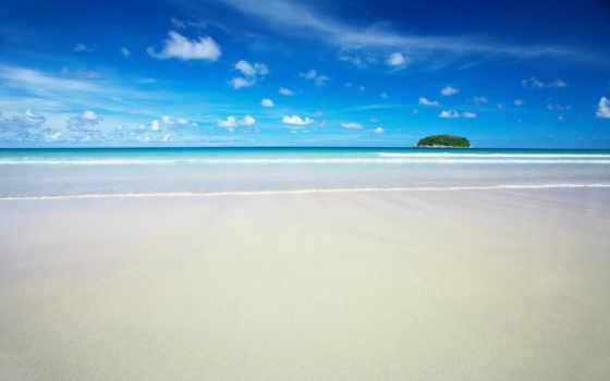 пляж, море, песок