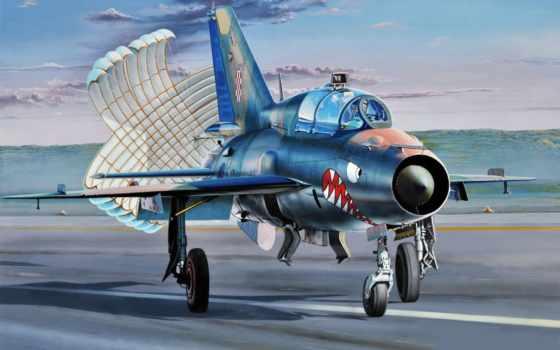 миг, soviet, самолёт, многоцелевой, истребитель, art, bbc,