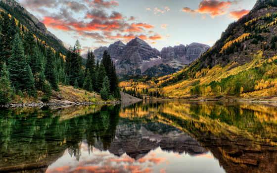 бардовый, склянки, colorado, mountains, озеро, горы, usa, сша, photograph,