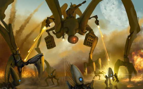 art, инопланетяне, planet, this, attack, огонь, выстрелы,