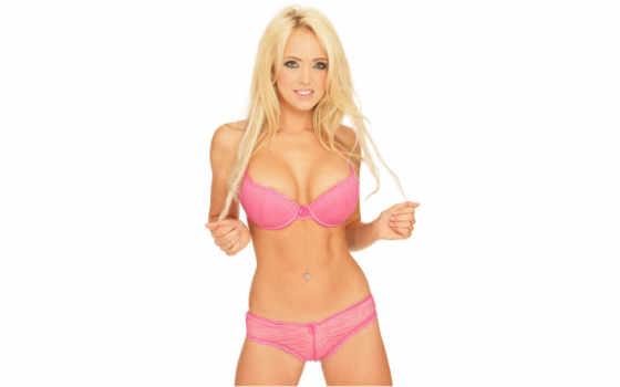 девушка, devushki, white, розовое белье, белье, блондинка,