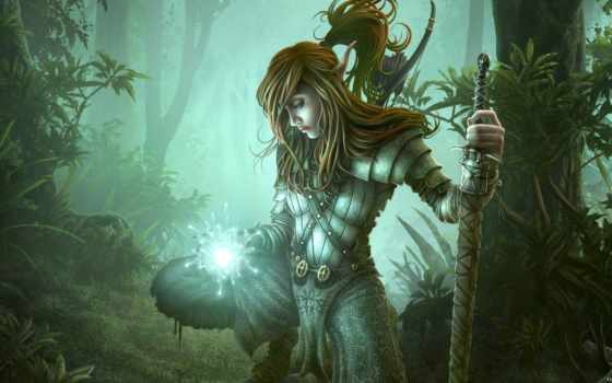 elfy, лесные, они, гномы, fantasy, янв, мира,