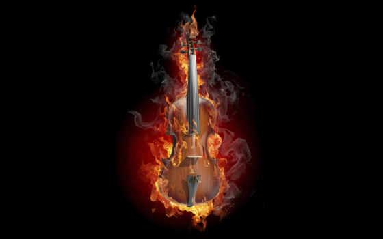 инструмент, музы, музыка, музыкальные, скрипка, creativ, инструменты, дым, огонь, tancy,