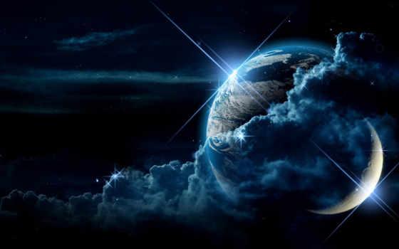 луна, пейзажи -, лунно