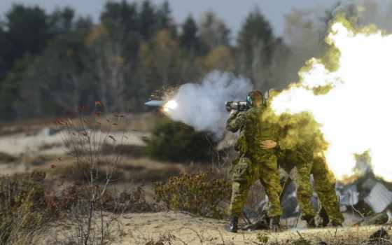 канадский, carl, густав, армия, винтовка, firing, forces, recoilless,