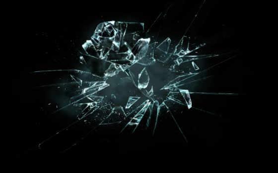 glass, разбитое, разных, разрешениях, роза, broken, осколки, очки,