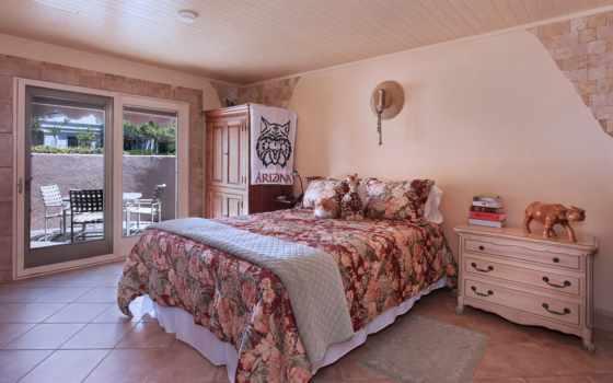 , интерьер, кровать, спальная, розовый,