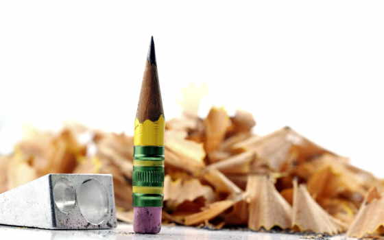 макро, карандаш