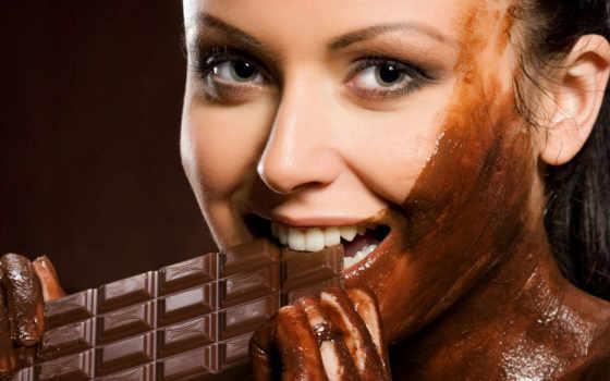 шоколаде, девушка, devushki, chocolate,