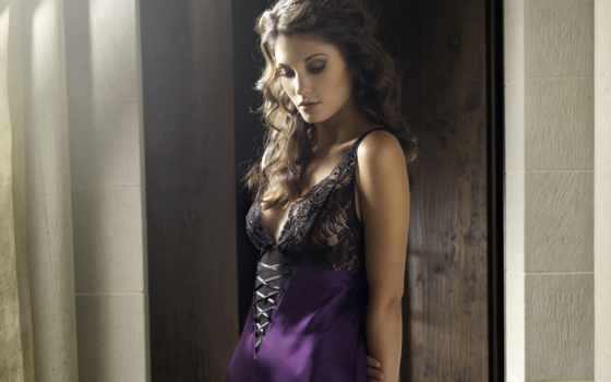 , фиолетовое, красивое белье, ночнушка,