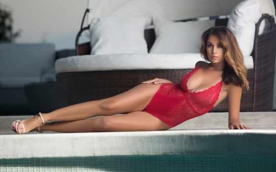 models, sensual, beauty, боди, красное белье,
