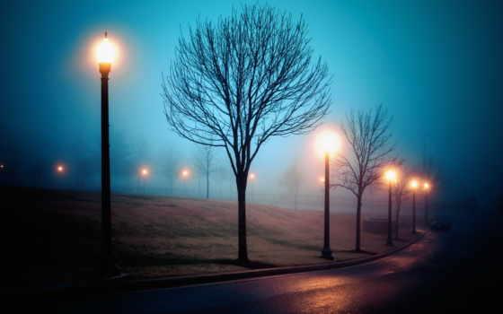 туман, город, улица, выгул, спать, baikeomany, ночь