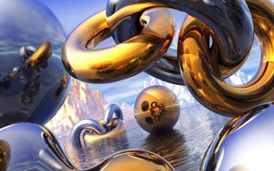 золотые, цепи, золотистый