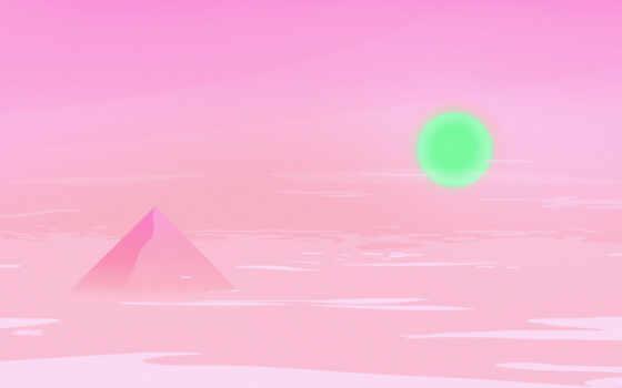 ,, розовый, небо, пирамида, пурпурный, треугольник, узор, красочность,