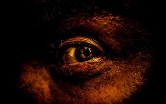 лицо, черный, глаз