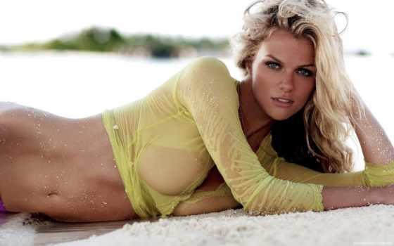 девушка, мокрая, песок