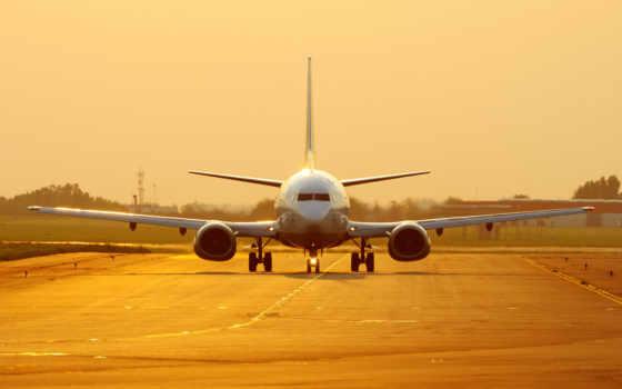 закат, самолёт, boeing