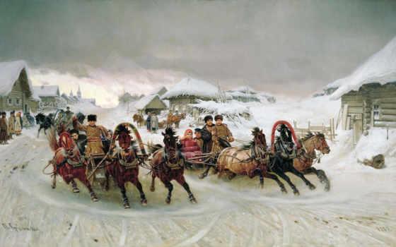 winter, три, праздник, русская, peter, грузия, лошадь, широкоформатные, картинка, николаевич, свой,