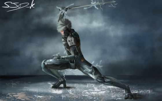 оружие, фантастика, fanart, рейден, меч, уничтожение, robot, изображения,