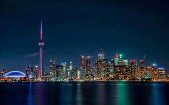 toronto, город, ночь, desktop, cityscape, fantastic, free, канада,