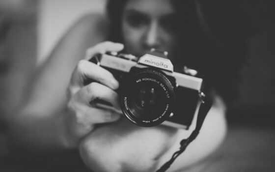 monochrome, фотоаппарат, волосы, brunette, женщина, tech, long, модель