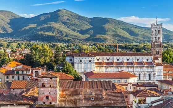 italy, lucca, italien, guinigi, автобан, башня, und, tuscany
