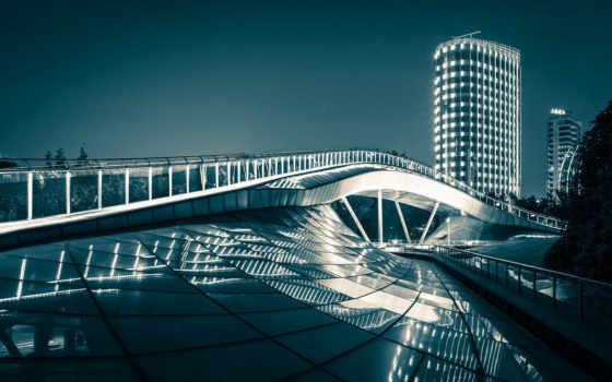радуга, shanghai, мост
