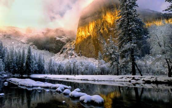 winter, пейзаж, снег