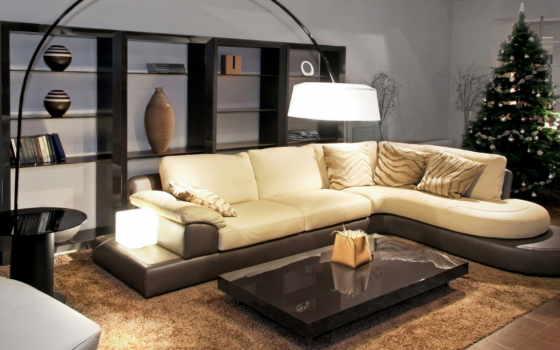 гостиной, интерьере, ковёр