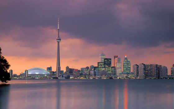 toronto, skyline, канада, онтарио,