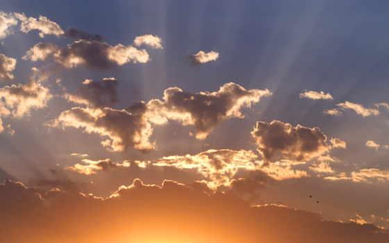 небо, sun, закат