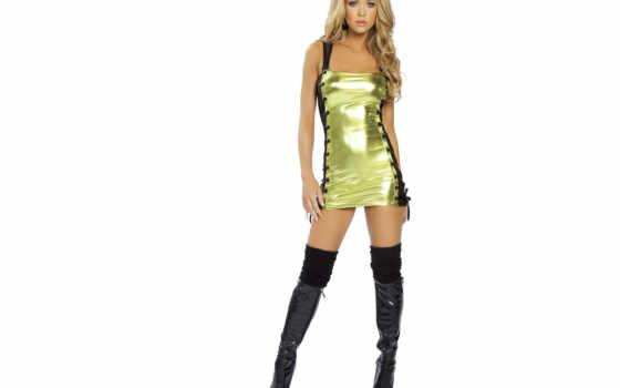 мини, blonde, платье