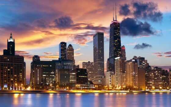 chicago, город, иллинойс, usa, hotel,