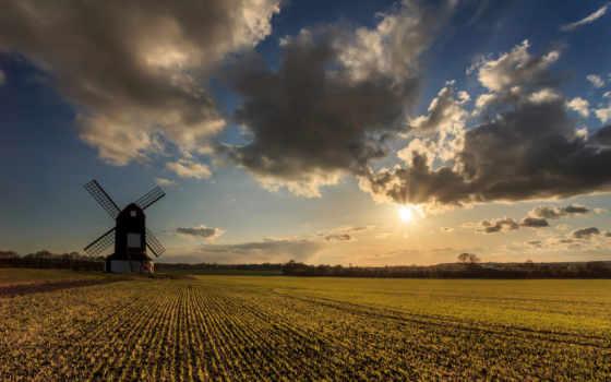 mill, ветряная,