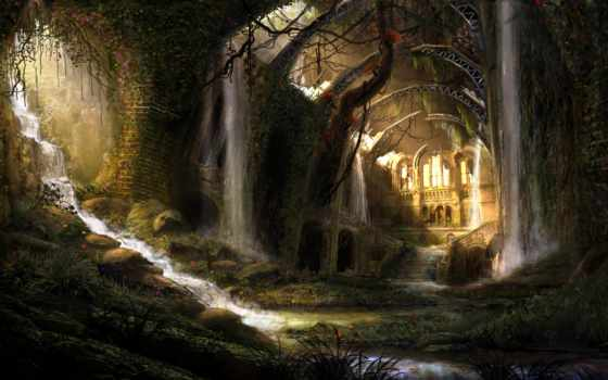 развалины, fantasy, pinterest, high, landscape, tirisfel,