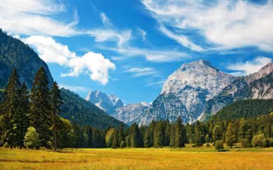 красивая, природа, landscape, музыка, пейзажи -, душі, горы,