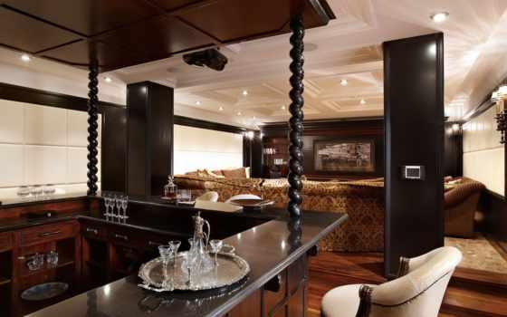 кинотеатр, home, интерьер, диван, bar, projector, подсветка, стены, стиле,